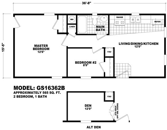 Floor Plan GS-16441A | GS Single-Section | Homes By Cavco West ...