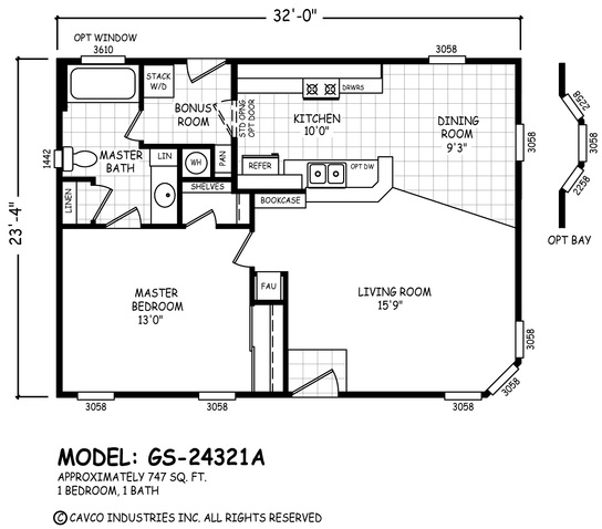 GS 20 & 24 Wides | Homes By Cavco West  X Home Plans on 20x40 one-bedroom floor plans, duplex home floor plans, dueplex floor plans,