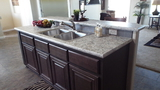 Island Sink with Crescent Edge Counter-tops